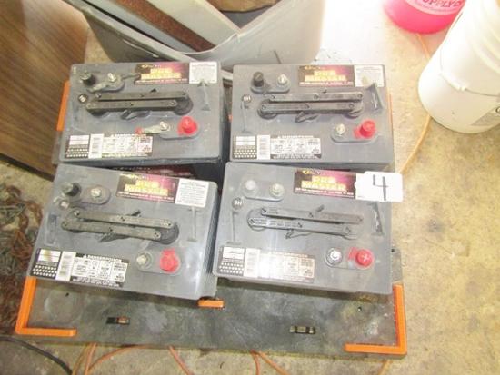 Lot Of 4 Deka Pro Master 6 Volt Golf Cart Batteries