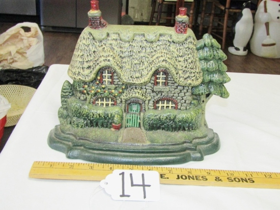 Vtg Cast Iron English Cottage Door Stop