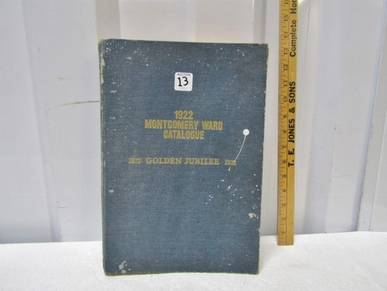 Vtg 1922 Golden Jubilee Montgomery Ward Catalogue That Vwas Reproduced