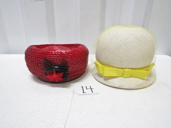2 Vtg Ladies Sunday Hats