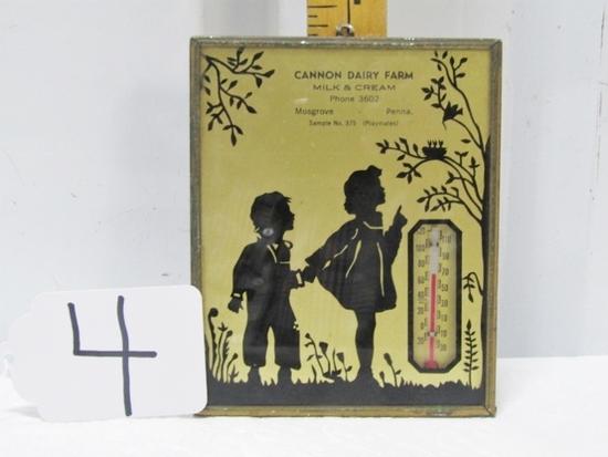 Vtg 1939 Advertising Thermometer W/ Calendar On Back