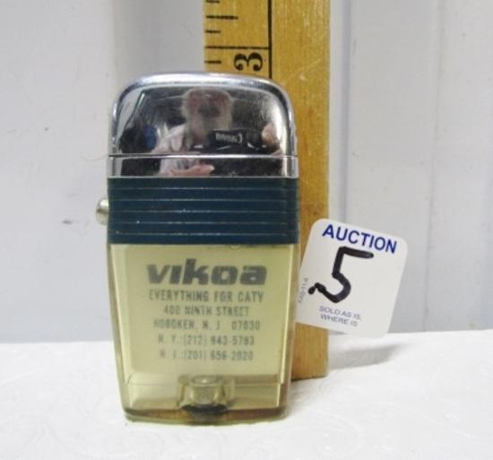 Vtg Scripto Vu - Lighter W/ Advertising For Vikoa Futura 21