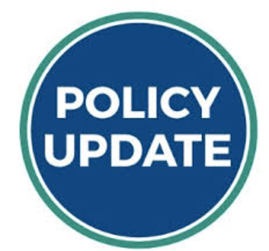 IMPORTANT UPDATED POLICY CHANGES FOR 2021