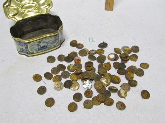 Large Lot Of Vtg Metal Tobacco Tags