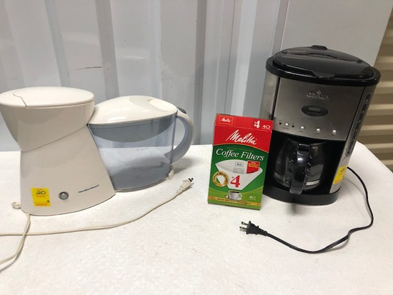 12 Cup Gevalla Coffee Maker With Filters And A Hamiton Beach Tea Brewer
