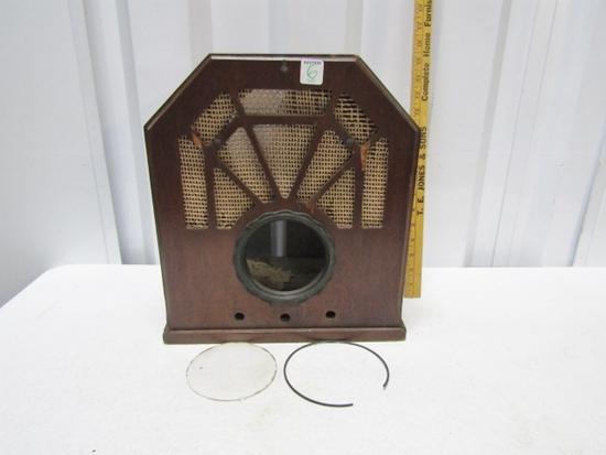 Vtg Wood Tombstone Radio Case