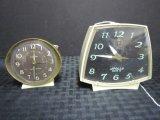Lot - 1 Apollo Mark II Vintage Clock, 1 Westclox Vintage Clock