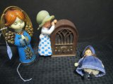 Lot - Vintage Holly Hobby Radio, Small Doll w/ Ceramic Face, Cloth Body Blue Dress