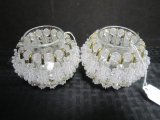 Pair - Sequin Candle Holders