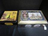 Lot - 2 Biscuit Tin Boxes, 1 Declare Paris Motif, 1 Lambertz, German Motif Tin