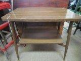 Wood Veneer 2 Tier, Side/Coffee Table
