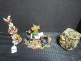 Lot - 3 Ceramic Figurines, 1 Boyd's Bear & Friends Folkstone Collection Edition