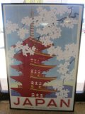 Japan Japanese Government Railways Vintage Poster in Frame