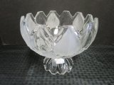 Crystal/Frosted Glass Bowl Petal Leaf Design