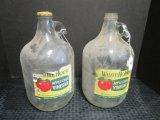 Pair - White House Apple Cider Vinegar Jugs