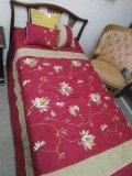 Vintage Wood Dark Lattice Design Single Bed
