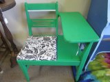 Green Child's Upholstered Foyer Bench