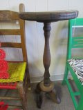 Wooden Pedestal Side Table 33