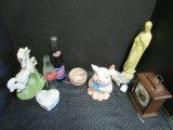 Lot - Misc. Pig Jar, Porcelain Unicorn Figure, Vintage Pepsi Cola Bottle, Coca Cola Bottle
