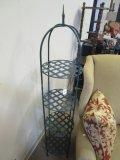 4 Tier Metal Lattice Shelf w/ French Style Finial