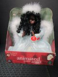 African-American Animated Musical Angel by Holiday Time in Box