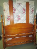 Maple Wood Bed Head/Foot Board w/ Rails