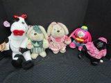 Lot - Plush Toys/Teddies, Pair Electronic Rabbits, Pink Rabbit, Electronic Gorilla Toy