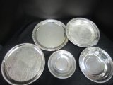 Lot - Plates, Silverplated Pierced Plate 8 1/4