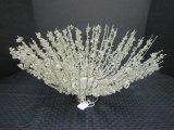 Large Silver Wire Spray Beaded Bowl, Etc.