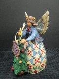 Heartwood Creek Angel & Christmas Tree Ceramic Figure by Jim Shore, Enesco