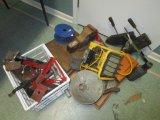 Lot - Car Jacks, Vices, Shot-Cut, Vintage Roller Skates, Etc.