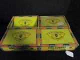 4 Cigar Boxes, King Edward Imperial Mild Tobacco