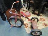 Vintage Red Tricycle, Metal Frame