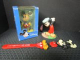 Disney Lot - Mickey Mouse 'Canine Caddy' Figurine, From The Classics Walt Disney Collection