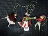3 Nutcracker Ballet Christmas Tree Decorations, Ballerina, Nutcracker, Mouse King