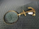 Brass Anchor Handle Magnifying Glass