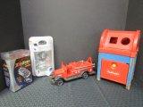 Toy Lot - Vintage Playskool Postal Station Toy Box, Vintage Meal Fire Truck