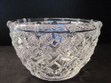 Tiffany & Co. Crystal Bamboo Patter Round Bowl