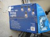 Fleet Electric 48' String Lights w/24 Light Sockets, Bulbs Included, w/Extra Bulbs