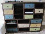 Coast to Coast Imports Furniture Rustic Pine Cabinet w/Multicolored Finish