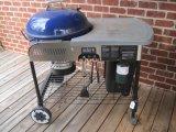 Weber Performer Gas Start Charcoal Grill on Coasters w/Enamel Finish Bowl & Waste Bin