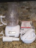 Kitchen Aid 12 Cup Food Processor w/Attachments & Storage Container