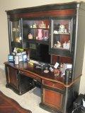 Hooker Furniture Preston Ridge Collection Cherry/Mahogany Finish Desk w/Lighted Hutch