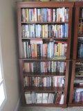 Walnut Finish Bookcase w/Trim Molding