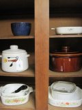 Lot - Corningware French White, Spice of Life, West Bend & Other Bakeware/Casseroles