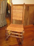 Mixed Wood Rocker w/ Woven Back/Seat