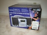 Venturer 5 CD Home Stereo System AM/FM Tuner Auto Stop Cassette Player & Remote