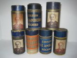 1912-1929 7 Edison Blue Amberol Cylinder Phonograph Records