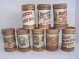 8 Edison Gold-Moulded/Edison Record Cylinder Phonograph Records