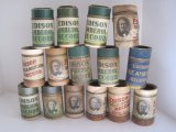 14 Edison Gold-Moulded, Amberol Cylinder Phonograph Records